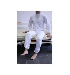 Pijama antipañal largo con cremalleras en espalda y piernas