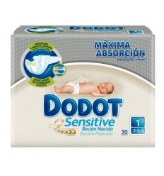Dodot Sensitive Recien Nacido T1 2-5 KG. 30 uds