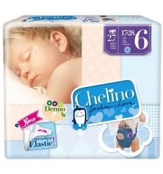 PAÑAL INFANTIL CHELINO FASHION & LOVE T- 6 (17 - 28 KG) 27 PAÑALES