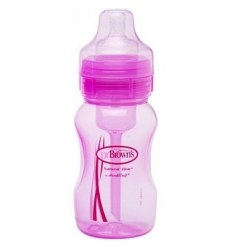 BIBERON 0 BPA BA DR BROWN´S NATURAL FLOW ROSA 240 ML