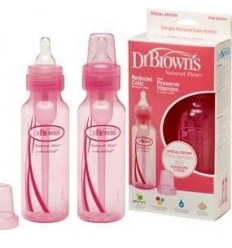 BIBERON DR BROWN´S NATURAL FLOW ROSA 250 ML PACK 2 U